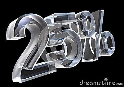 25 percent in glass (3D)