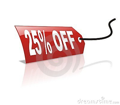 25 persentage off discount