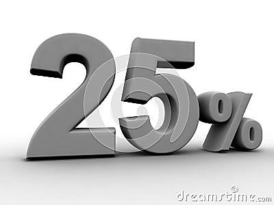 25 pour cent