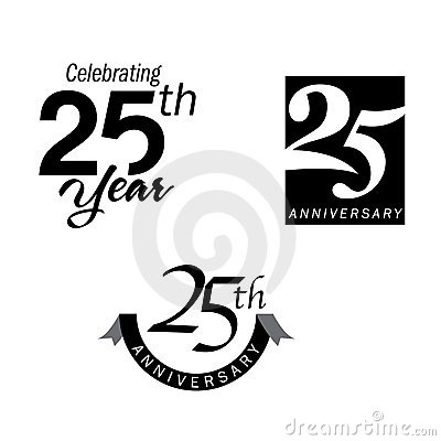 Free 25 Years Anniversary Jubilee Stock Photos - 9912603