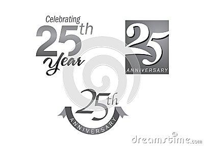 25 years anniversary jubilee