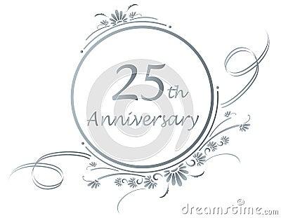 25th anniversary design stock photos image 26274513 25 Year Wedding Anniversary Clip Art Celebrating 25 Years Clip Art