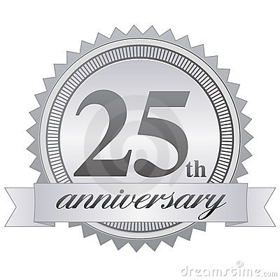 Free 25th Anniversary Seal EPS Royalty Free Stock Photos - 15917728