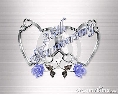 25th anniversary silver hearts