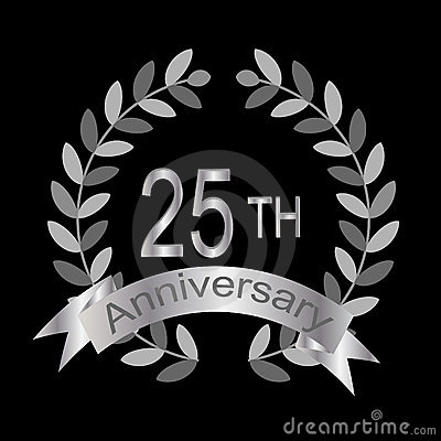 25th anniversary (vector)