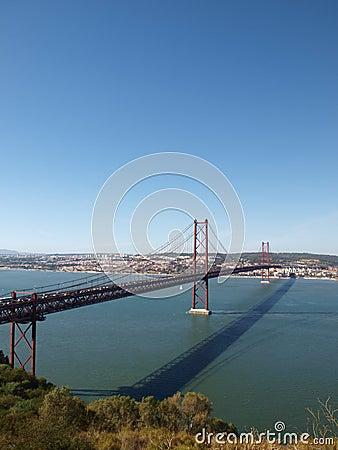 25th April bridge across Tagus river