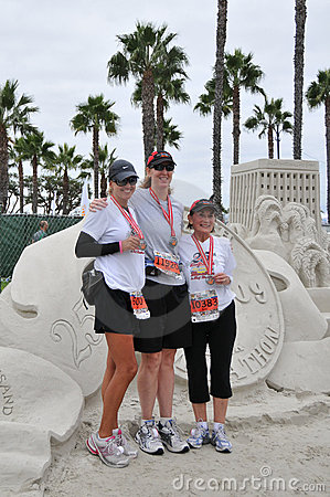 25th Long Beach Marathon 2009 Editorial Image