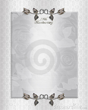 25th Silver Anniversary Invitation Stock Photo - Image: 15232880