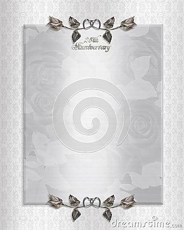 25th silver Anniversary Invitation