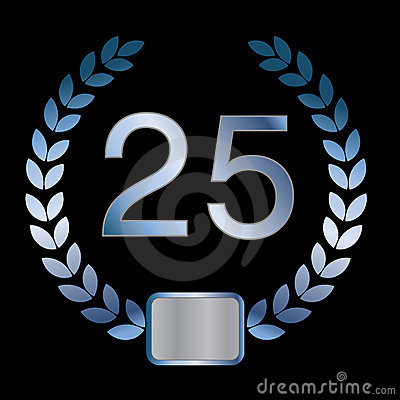 25th or silver anniversary of a marriage or busine