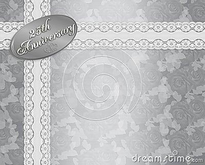 25th Wedding Anniversary Invitation Stock Photography Image 13555062
