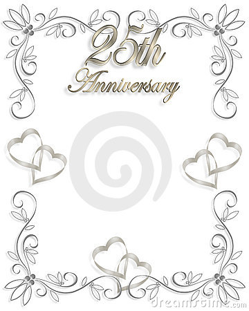 25th Anniversary Template Stock Image - Image: 4314681