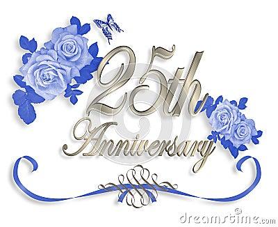 25th Wedding Anniversary Invitation