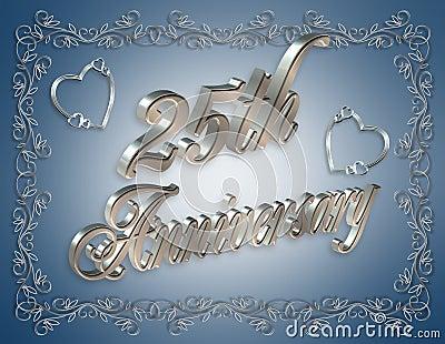 25th Wedding Anniversary Invitation Royalty Free Stock Photography Image 5696167