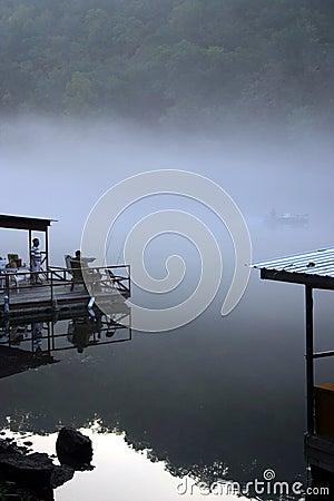 早期的捕鱼早晨