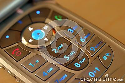 有启发性键盘移动电话