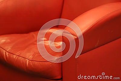 椅子方便的皮革红色