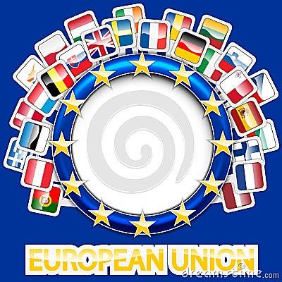 27 flags of european union