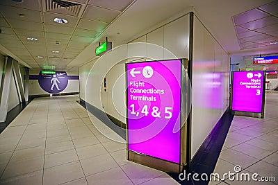28 June 2012 - Interior of Heathrow Airport Editorial Stock Image