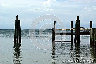 海滩码头视图