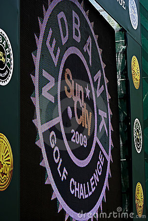 28th årliga golfnedbank för challenge 2009 Redaktionell Arkivbild