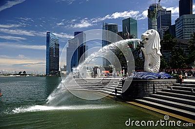 29.08.2010 - Merlion at Marina Bay in Singapore. Editorial Stock Image
