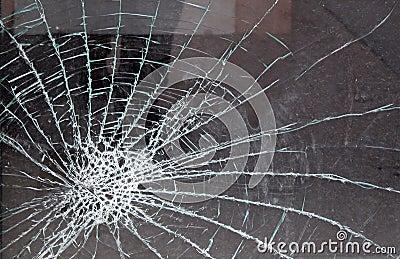 玻璃打碎了