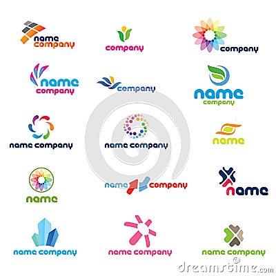 Free 2d Logo Icon Set Royalty Free Stock Photos - 13716828