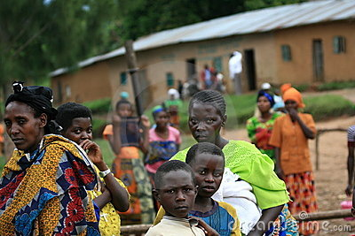 2nd Nov 2008. Refugees from DR Congo Editorial Stock Photo