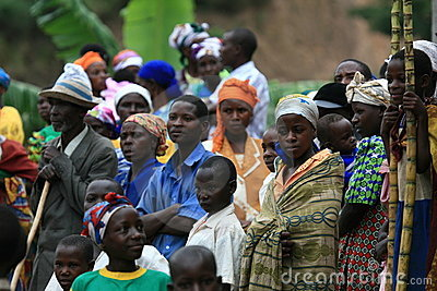 2nd Nov 2008. Refugees from DR Congo Editorial Stock Image