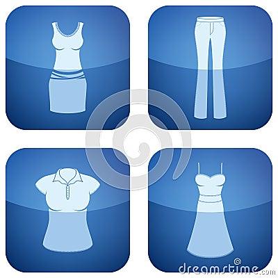 第2名衣物钴图标s三角板妇女
