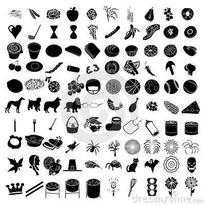 3 100 ikon set