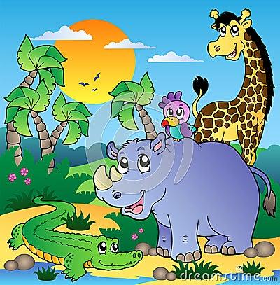 τοπίο 3 αφρικανικό ζώων
