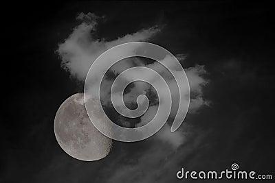 3/4 full moon