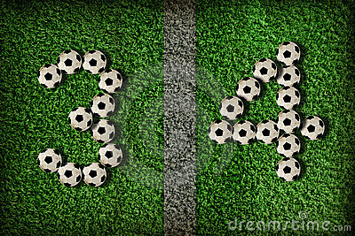 3,4 - number of football
