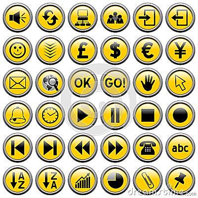 3个按钮来回万维网黄色