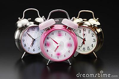 3 alarm clocks