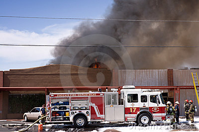 3 alarm Restaurant fire Editorial Photo