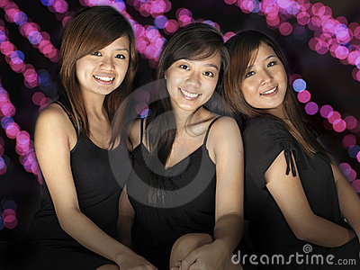 3 Asian Girls having a Party