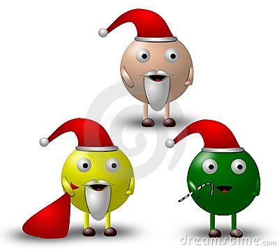 3 Cartoon Christmas Characters Illustration -1