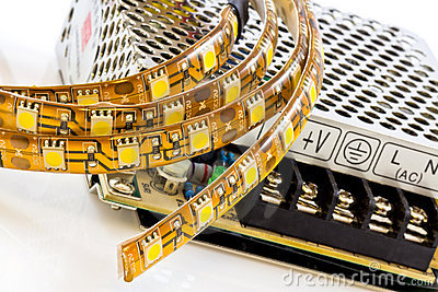 3-chip SMD LED strips with power supply