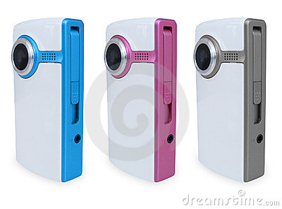 3 Colored Video Cameras