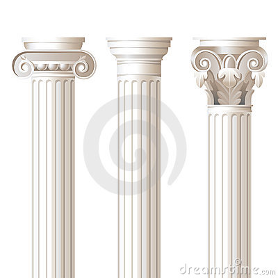 Free 3 Columns In Different Styles Stock Photography - 23044002