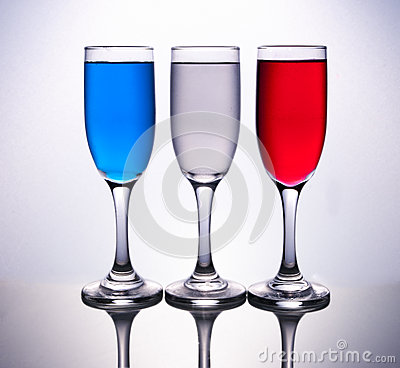 Free 3 Cups Coloured With French Flag Stock Images - 63625174