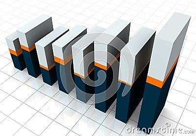 3-D Business Bar Graph