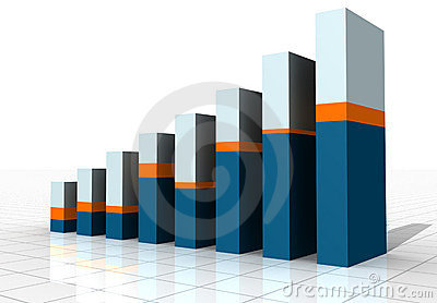 3-D Business Bar Graph