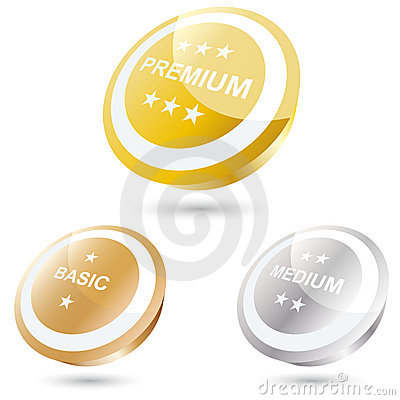 3-D buttons or icons