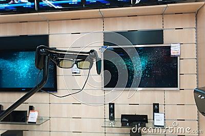 3-D glasses for try