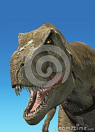 3 D rendering of a Tyrannosaurus Rex.