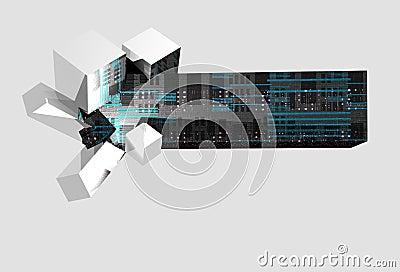 3-D technology banner